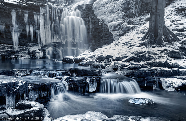 Frozen Scaleber Force Falls Canvas print by Chris Frost