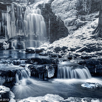 Buy canvas prints of Frozen Scaleber Force Falls by Chris Frost