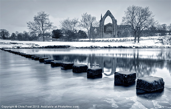 Bolton Abbey Reflections Canvas print by Chris Frost