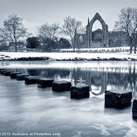 Buy canvas prints of Bolton Abbey Reflections by Chris Frost