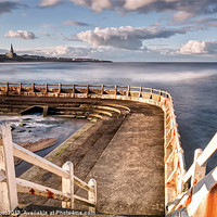 Buy canvas prints of Stairway to Tynemouth by Chris Frost