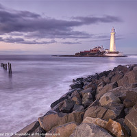 Buy canvas prints of St Marys Lighthouse by Chris Frost