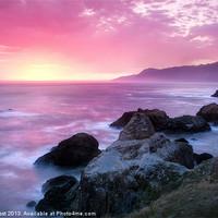 Buy canvas prints of Sunset at Shelter Cove by Chris Frost