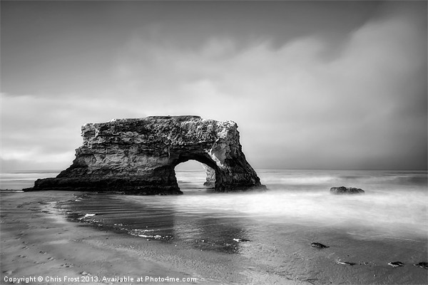 Natural Bridges State Beach, CA Canvas print by Chris Frost