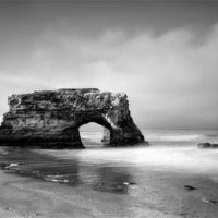 Buy canvas prints of Natural Bridges State Beach, CA by Chris Frost