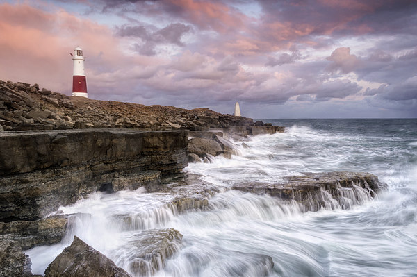 Stormy Sunset at Portland Bill Canvas print by Chris Frost