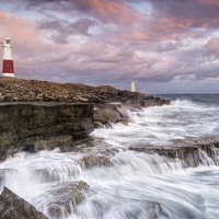 Buy canvas prints of Stormy Sunset at Portland Bill by Chris Frost