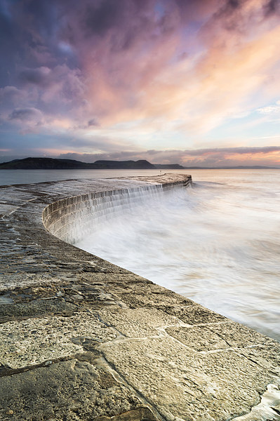 Sunrise falls at the Cobb Canvas print by Chris Frost