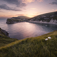 Buy canvas prints of Last Light at Lulworth by Chris Frost