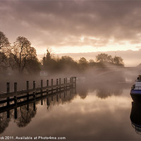 Buy canvas prints of Mist on the Thames by Neal Puttock