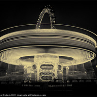 Buy canvas prints of Lighting Up London - Mono by Neal Puttock