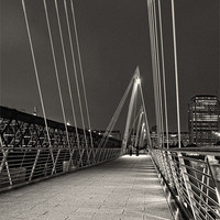 Buy canvas prints of Hungerford Bridge at Night by Neal P