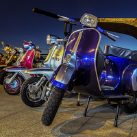 Buy canvas prints of  Scooters by Neal Puttock