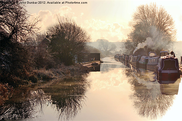 Winter Clayworth Morning Canvas print by John Dunbar
