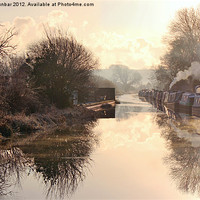 Buy canvas prints of Winter Clayworth Morning by John Dunbar