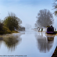 Buy canvas prints of Winter Clayworth Morning II by John Dunbar