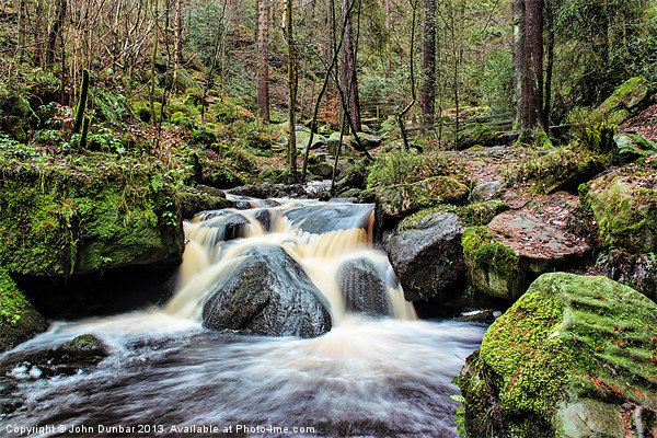 Wyming Brook Cascades Canvas print by John Dunbar