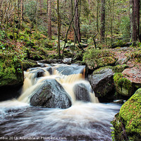 Buy canvas prints of Wyming Brook Cascades by John Dunbar
