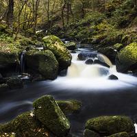 Buy canvas prints of Fall on Burbage Brook by John Dunbar