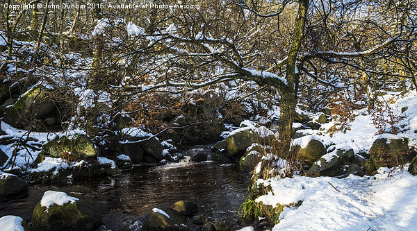 Burbage Brook in Winter Canvas print by John Dunbar