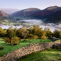 Buy canvas prints of Grasmere below Red Woods by John Dunbar