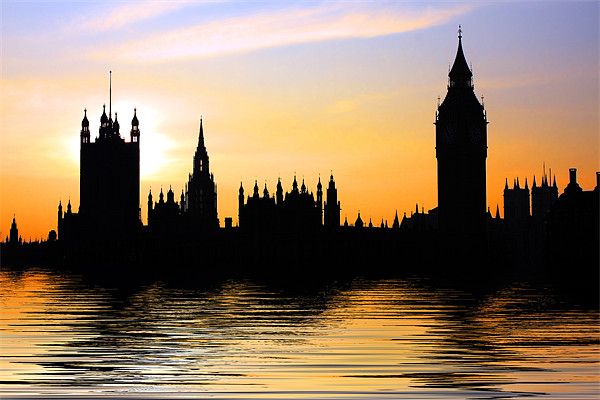 Westminster Skyline Canvas print by Phil Clements