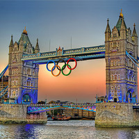 Buy canvas prints of Tower Bridge at Sunset by Phil Clements