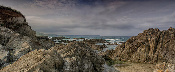 Woolacombe Rocks Canvas Print by Phil Clements