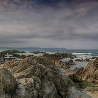 Buy canvas prints of  Woolacombe Rocks by Phil Clements
