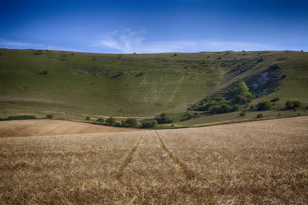 The Long Man Of Wilmington Canvas print by Phil Clements