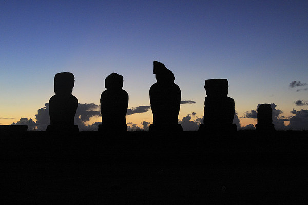 Guardians of Rapa Nui Canvas Print by Nick Fulford
