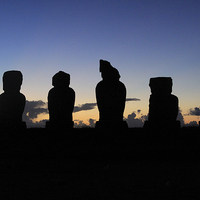 Buy canvas prints of Guardians of Rapa Nui by Nick Fulford