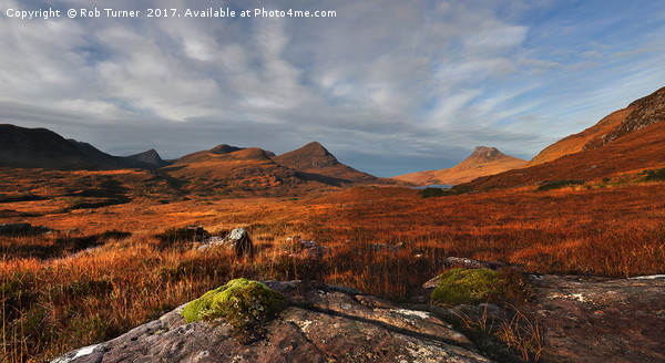 Assynt Panorama Canvas print by Rob Turner