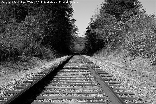 Black and White Railroad Canvas print by Michael Waters Photography