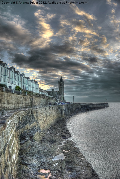 The breakwater Canvas print by Andrew Driver