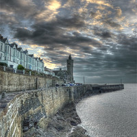 Buy canvas prints of The breakwater by Andrew Driver