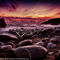 Buy canvas prints of Sunset at Dollar by Andrew Driver