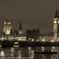 Buy canvas prints of Night time in London by Craig Cheeseman