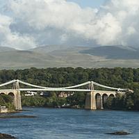 Buy canvas prints of Menai Bridge by malcolm fish