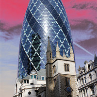 Buy canvas prints of The Gherkin, London by Jasna Buncic