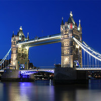 Buy canvas prints of Tower Bridge at night by Jasna Buncic