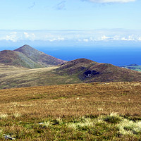 Buy canvas prints of North Barrule from Snaefell Summit by Steven Watson