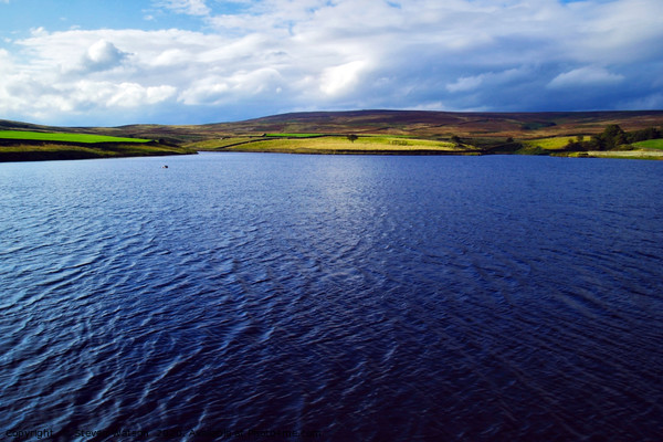 March Ghyll Reservoir and Middleton Moor Framed Mounted Print by Steven Watson