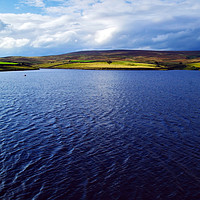 Buy canvas prints of March Ghyll Reservoir and Middleton Moor by Steven Watson