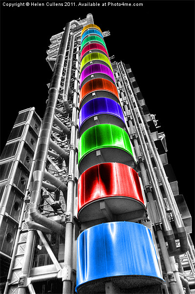LLOYDS BUILDING Canvas print by Helen Cullens