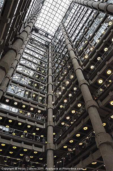 INSIDE LLOYDS OF LONDON Canvas Print by Helen Cullens