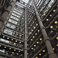 Buy canvas prints of INSIDE LLOYDS OF LONDON by Helen Cullens