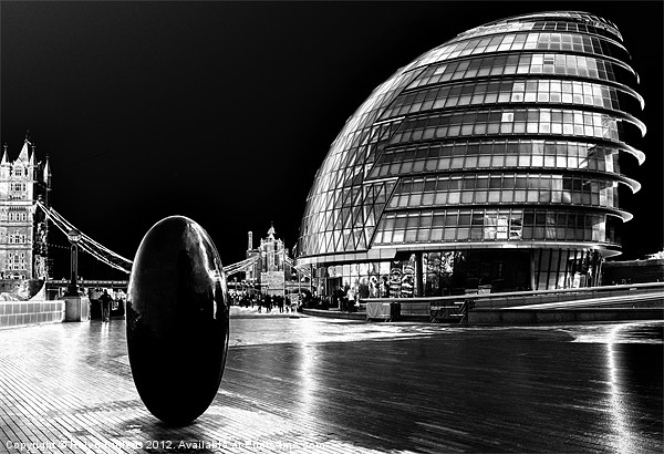 LONDON ASSEMBLY Canvas print by Helen Cullens