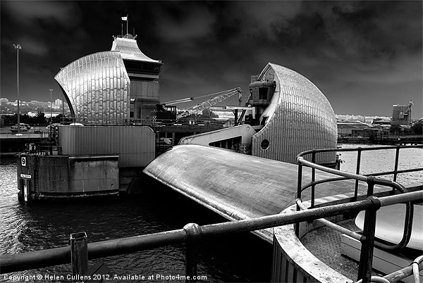 THAMES BARRIER Canvas print by Helen Cullens