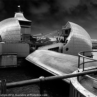 Buy canvas prints of THAMES BARRIER by Helen Cullens